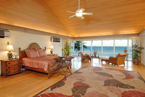 Kailua rental house bedroom. August 2008 Obama Hawaii Vacation