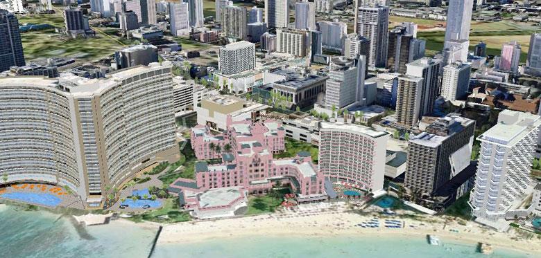 Google Maps Image Of Waikiki