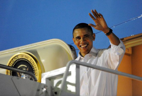 visit the obama hawaii vacation page on this website to see photos